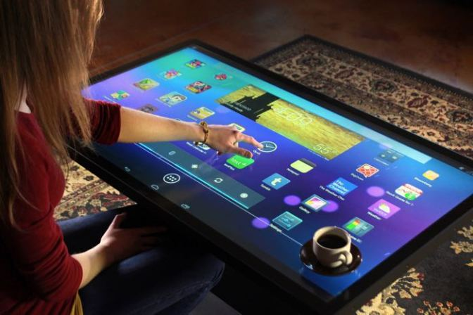 Giant Android tablet display