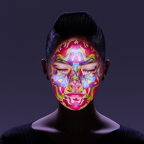 3-D Projection Mapping with Real-Time Face Tracking