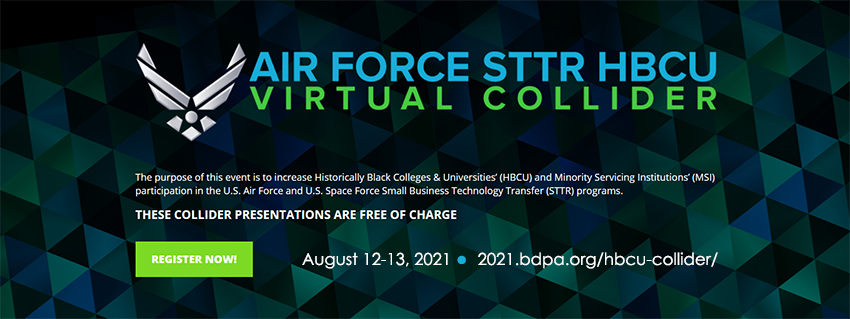 Register now to attend this year's Collider for Small Business Technology Transfer and HBCU opportunities